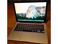 Macbook Pro Retina 2015 model-i5-2.7GHz-256SSD-8RAM with apple care until 2018
