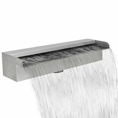 Outdoor Garden Rectangular Waterfall Pool Fountain Stainless Steel 45 cm L4K3