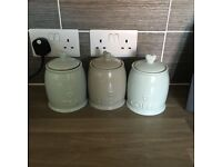 Tea/coffee/sugar, bread bin and biscuits from dunelm