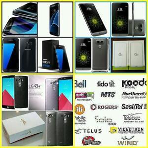 Brand New Unlocked Samsung Galaxy S7Edge/LG-G4/G5/Moto Z Force WIND/Mobilicity/Roger/Bell/Telus/Fido/Koodo/Virgin/Public
