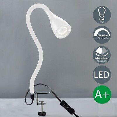 LED Klemm-Leuchte dimmbar Tischleuchte Schreibtisch Büroleuchte Nachttisch-Lampe
