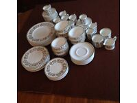 Susie Cooper Wedgwood Bone China Dinner Set, Venetia Design. 78 pieces
