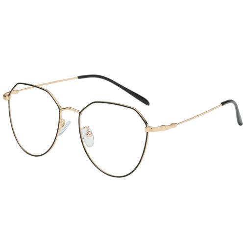 vintage Metallrahmen Fensterglas Brille Ohne Stärke Durchsichtig Nerdbrille