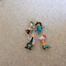 Disneys Phineas and Ferb set of 4 characters