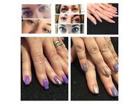 Gel polish manicures, gel overlays and gravity defying lash lifts