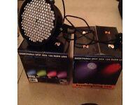 2 x Beamz ShortPar64 stage lights