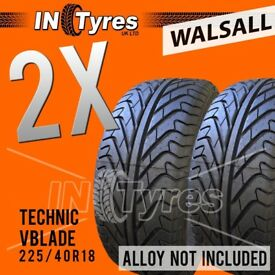 2x 225/40R18 Technic Runflat RSC Tyres 225 40 18 Fitting is Available x2 Walsall
