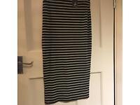 Brand New Black & White Stripe Pencil Skirt
