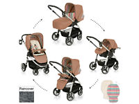 EXDISPLAY HAUCK LACROSSE 2 IN 1TOAST TRAVEL SYSTEM PRAM PARENT FACING PUSHCHAIR CARSEAT RAINCOVER