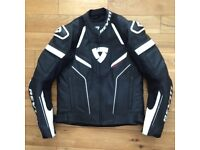 Rev it Replica Leather Jacket eur 50 = uk 40 Revit motorcycle motorbike gear black