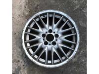 """BMW e46 mv1 18x8"""" genuine front alloy wheel scrap"""