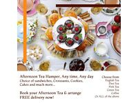 AFTERNOON TEA HAMPER BREAKFAST TRAY FREE DELIVERY Gift Hampers Birthday His Her
