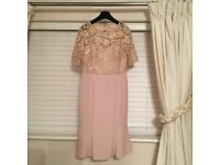 John Charles mother of the bride dress size 12 in pale pink with embossed bodice
