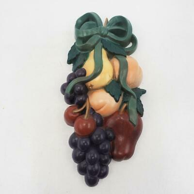 Vintage Burwood Products Wall Plaque Hanging Fruits 8.5
