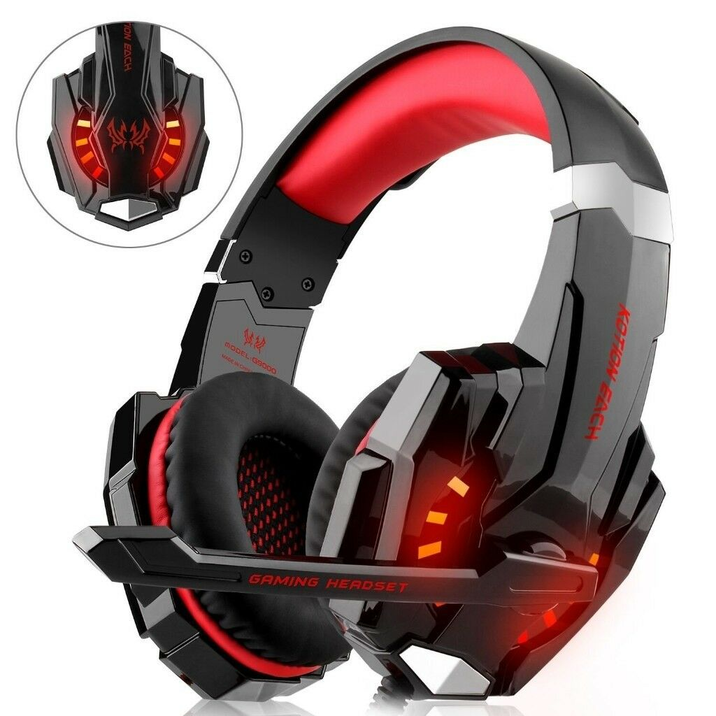 Gaming Headset for Xbox, PS4, PC Noise Cancelling Headphones with Mic, LED,  Bass | in Yardley, West Midlands | Gumtree