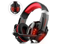 Gaming Headset for Xbox, PS4, PC Noise Cancelling Headphones with Mic, LED, Bass