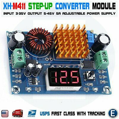 Xh-m411 Dc-dc Boost Adjustable Step Up Converter 5v-45v Power Supply Module Led