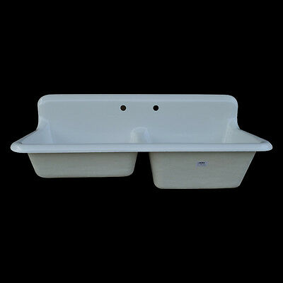Reproduction Double Bowl Farmhouse Kitchen Sink #DBR5124
