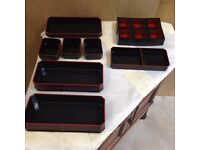 Japanese black and red lacquer