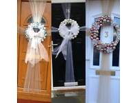 Christmas door bows wreaths