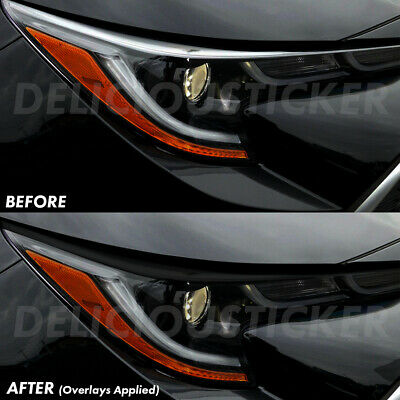 Eyelid SMOKE Head light Overlays Tint Precut Vinyl Smoked For 2019-2021 COROLLA