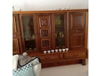 Large solid german cabinet