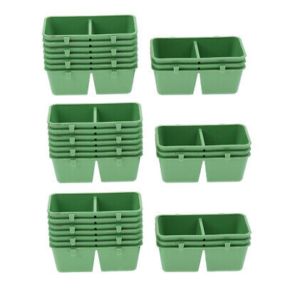 30x Plastic Food Feeding Bowl Cup Bird Pigeons Parrot Cage Supplies