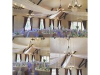 Twinkling Ceiling drapes hire £150 London ,M25 **OFFER quote gum***