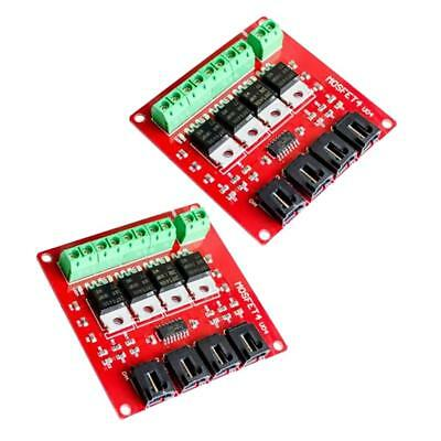 2pcs Switch Module Board Mosfet 4 Route Button For  Diy Four Channel