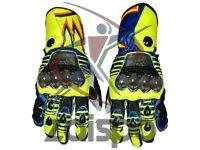 Valentino Rossi MotoGp 2016 Motorbike Racing Leather Gloves