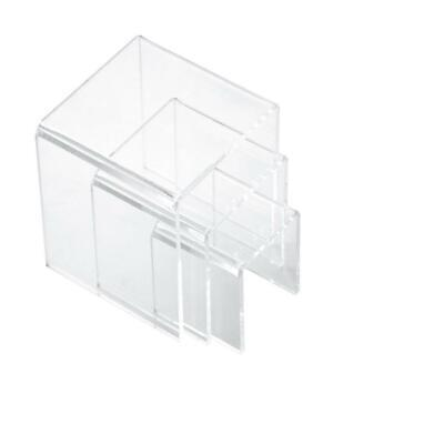 Set Of 3 Acrylic Risers Display Stands For Makeup Products Jewelry Holder
