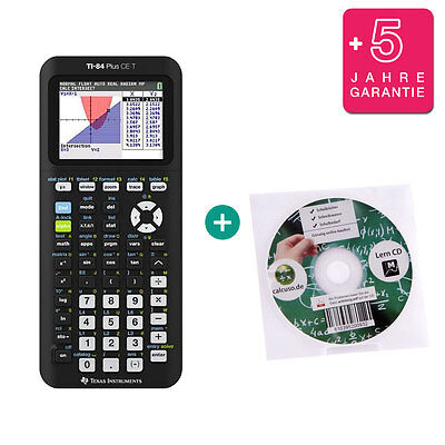 TI 84 Plus CE-T Taschenrechner Grafikrechner + Lern-CD und Garantie ()