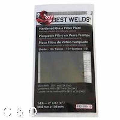 Shade 9 Welding Filter Plate - 2 X 4.25 - Hardened Glass Lens For Welding Helmet