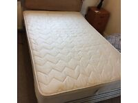 3/4 double bed with mattress and headboard