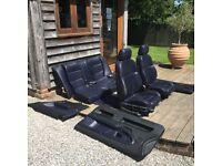 BMW E36 Coupe Full Leather Interior RARE Dark Blue Seats w/ Door Cards