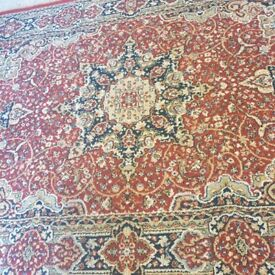 Beautiful, red, patterned carpet