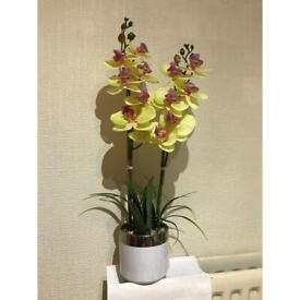 Fake yellow orchid flower