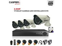 Casperi Surveillance Kit 4CH DVR With 2MP 1080P Varifocal Bullet Cameras Zoom