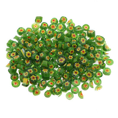 50g Green Millefiori Glass Fusing Glass Bead Microwave Kiln Art Craft Supply for sale  China