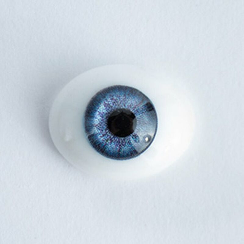 18mm Blue - Oval Glass Eyes - 1 Pair - #1380