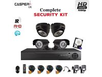 Complete Security kit 1080p IR Bullet and Dome In/Outdoor Cameras 4CH HDMI DVR