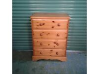 Chest of Drawers Pine Four Drawer