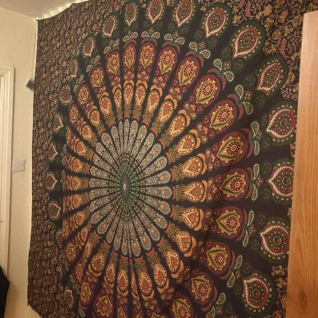 SOLD Mandala large wall hanging