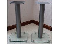 2x Floor Speaker Stands with Spikes