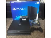 Brand New PS4 Pro 1TB Console, Games & 15 Month Unused PS Plus