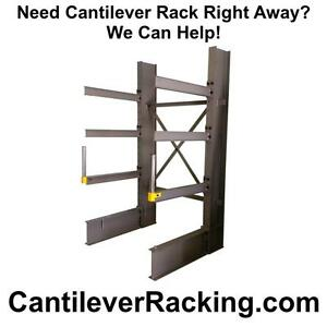 Regular duty structural steel cantilever racking in stock - pipe racks - lumber racking - sheet metal rack