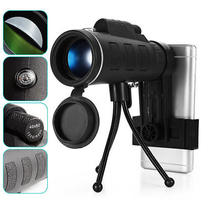 Night Vision 40x60 Single Mini HD Monocular Phone Camera Lens Hunting Telescope