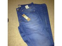Brand New River Island 28R blue jeans