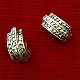 Vintage Silver Clip-on Earrings