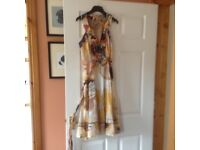 DESIGUAL cream patterned dress size 36